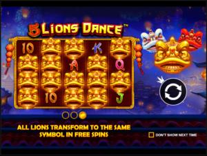 รีวิวเกมสล็อต Lions Dance